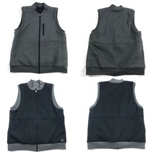 Adidas Reversible Vest Quilted Black & Gray
